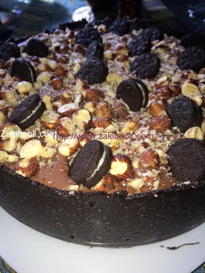 أوريو نوتيلا تشيزكيك Nutella Oreo Cheesecake