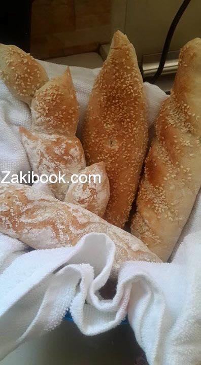 طريقة عمل الخبز الفرنسي بالصور
