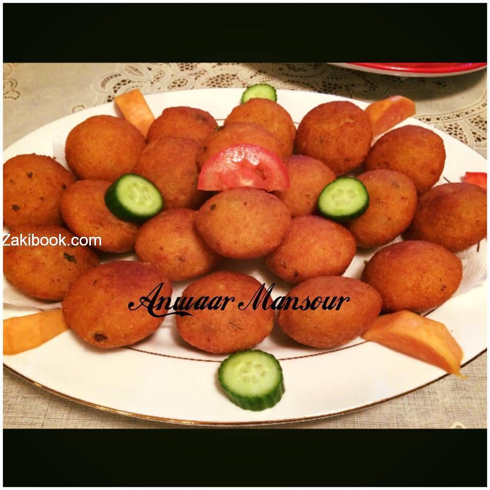 طريقة عمل كبة البطاطا المقلية بالصور