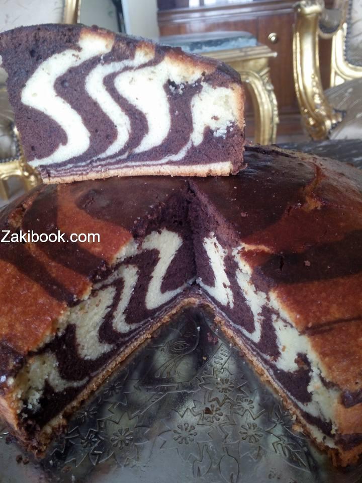 أنجح طريقة لكيكة الزيبرا