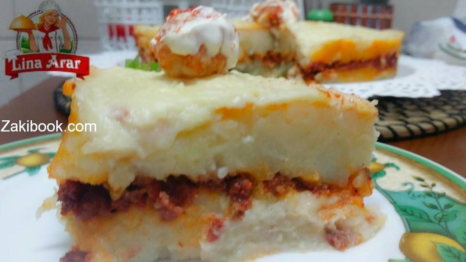 طريقة عمل بطاطا بوريه بقالب التشيز كيك