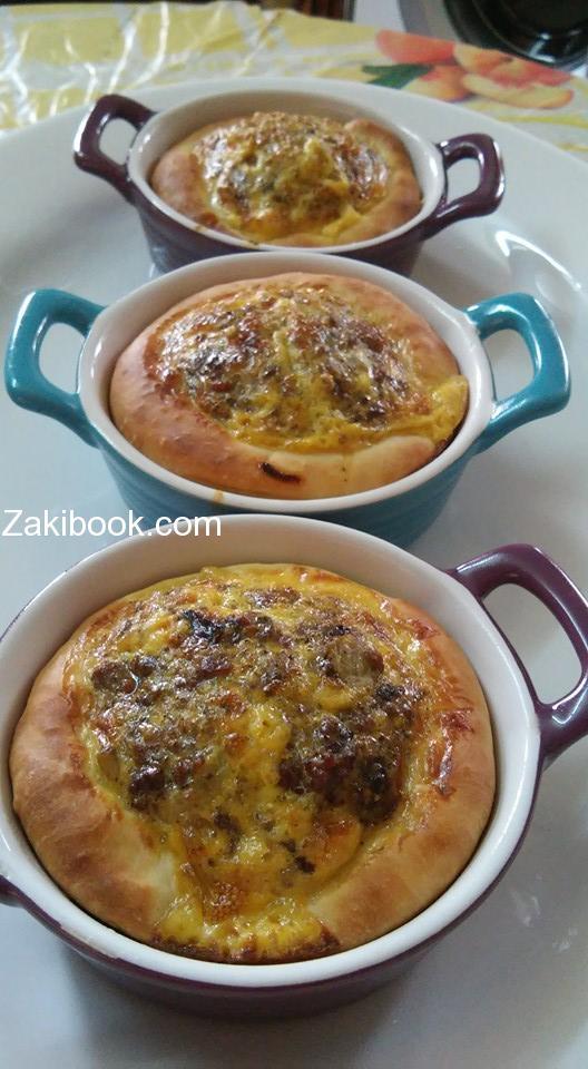 اقراص بيض باللحمه والبصل