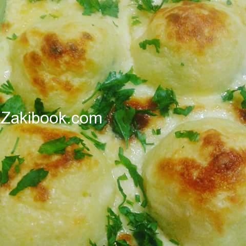 كرات البطاطا بحشوة خليط الاجبان الطعم خراااااافي