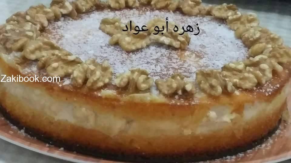 كيكة البسبوسة بالشوفان والقشطه