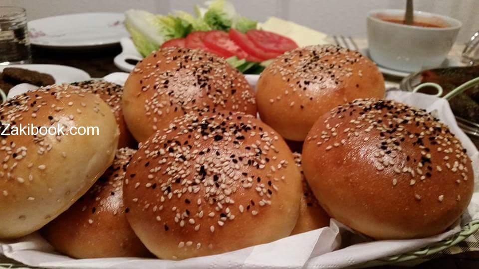 خبز برجر بيتي طيب واكيد اطيب من الجاهز