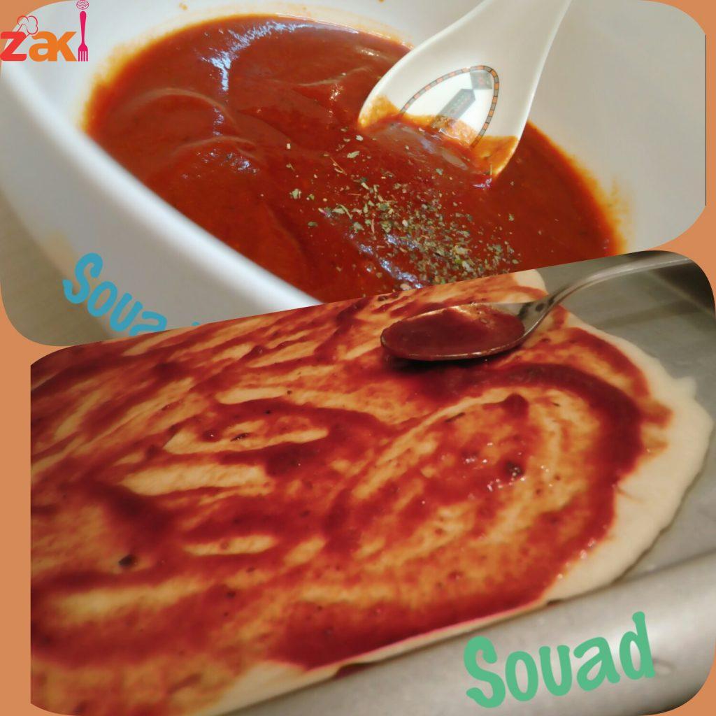 صلصة البيتزا المنزلية وبمكونات بسيطة ومتوفرة في كل بيت