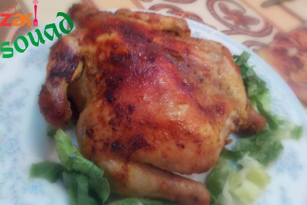 دجاج مشوي مع سر التتبيلة
