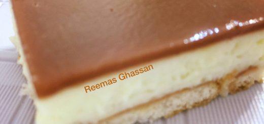 حلا الزبادي اللذيذ بالكريم كراميل والشوكولاته