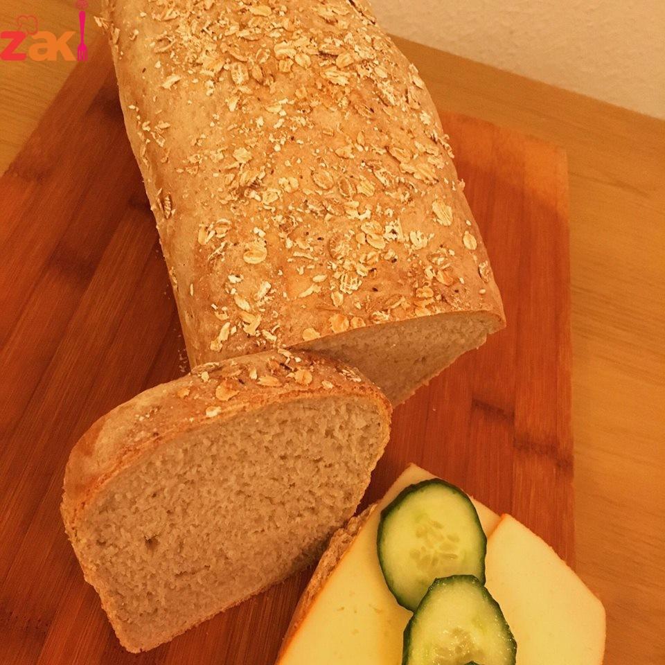طريقه عمل رغيف خبز أسمر الشهي