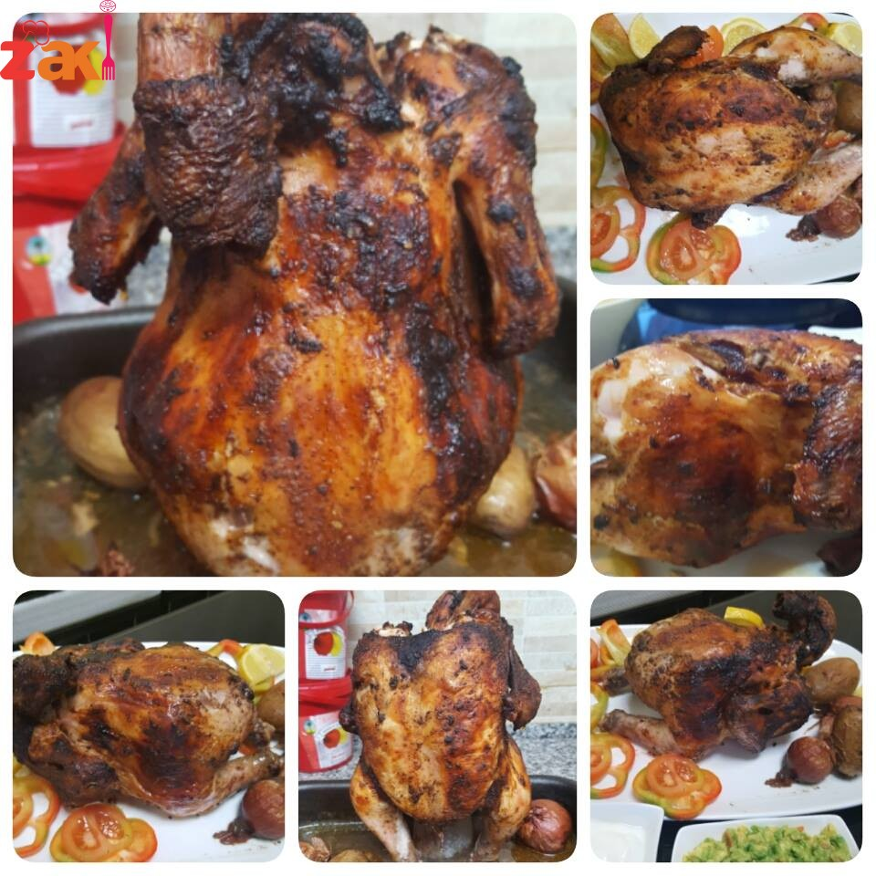 دجاج بالقنينه والنتيجة الدجاج طعمه طري وزاكي جداااا