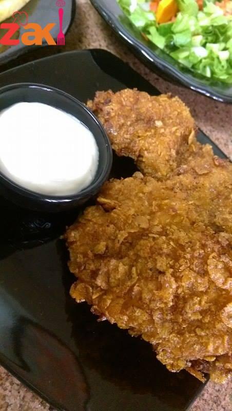كرسبي الدجاج الشهية