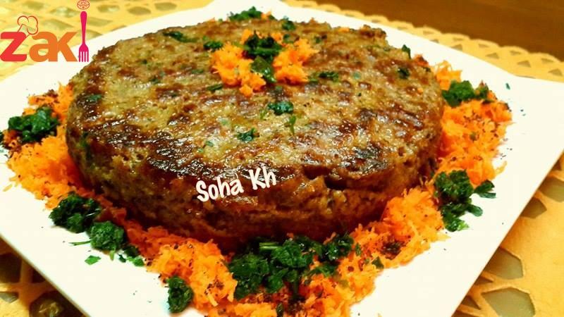 قالب اللحم بحشوه البصل بجنن طعمه