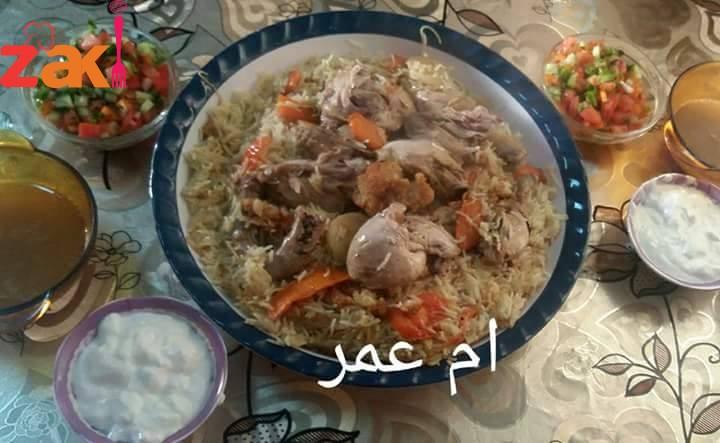 طريقه عمل المقلوبة الفلسطينية على أصولها