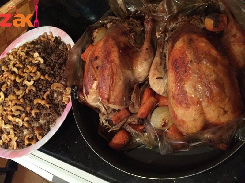 دجاج محشي بالأرز طعمته خرافية كتيييير بشهي