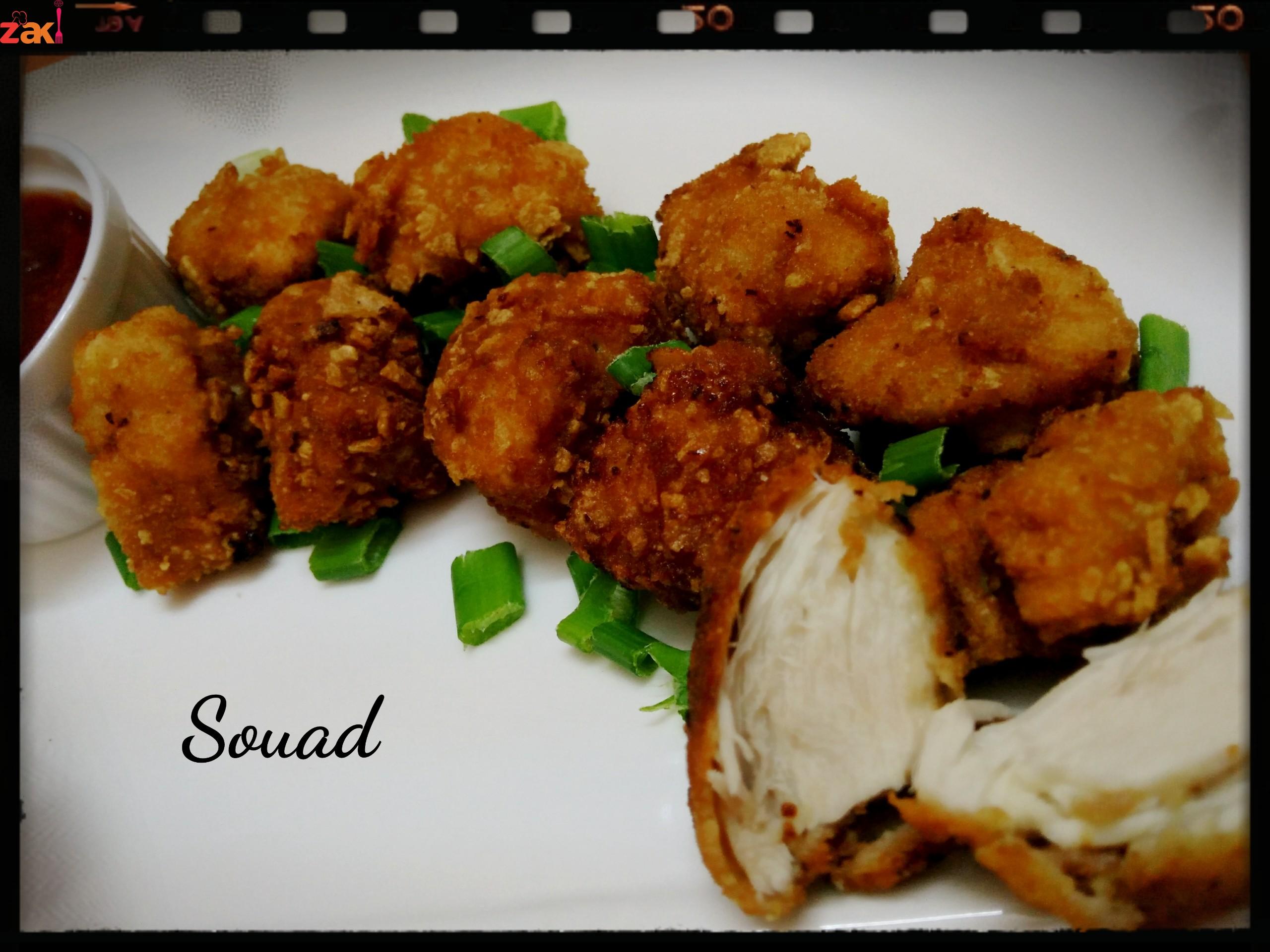 بوب كورن الدجاج اللذيذ والمقرمش وصفة سهلة وبسيطة وأنظف من الجاهز
