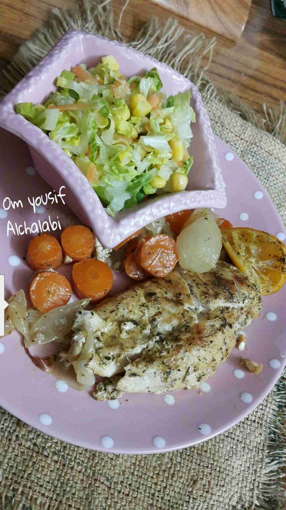 دجاج بالكزبرة والثوم وصفة مميزة للدايت