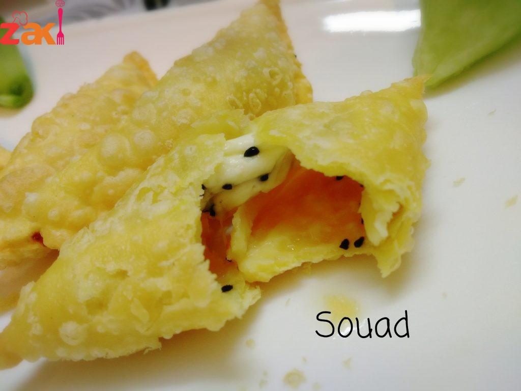 سمبوسك بالجبن مع مكون بسيط هو سر نجاح العجينة
