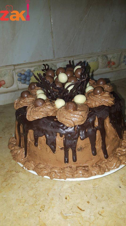 كيكة الشوكولاتة غنية مممممم