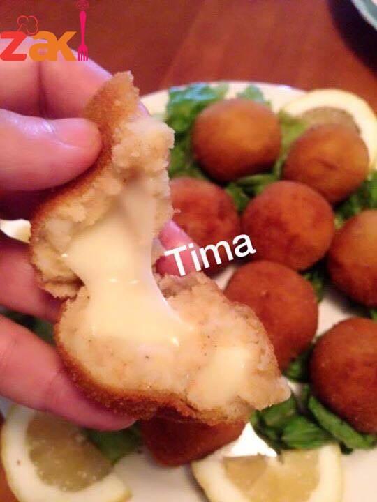 كرات البطاطا المحشيه طبق شهي و مميز بحبوه الصغار والكبار