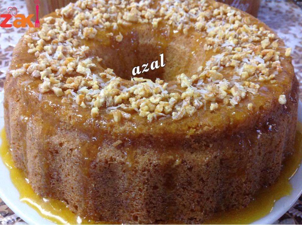 كيك البرتقال بصوص البرتقال قد ما بنعمل كيكات بضل هذه الكيكة هي المفضلة