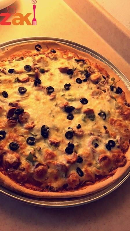 طريقة عمل ازكى بيتزا طعمها و لا في الاحلام جربوها و شوفوا زاكي