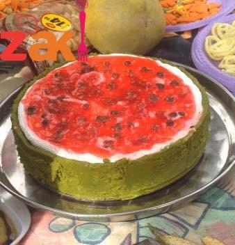 تشيز كيك البطيخ لمحبي الأكلات الإبداااعية تحية للمبدع اللي هيكتب زاكي في تعليق