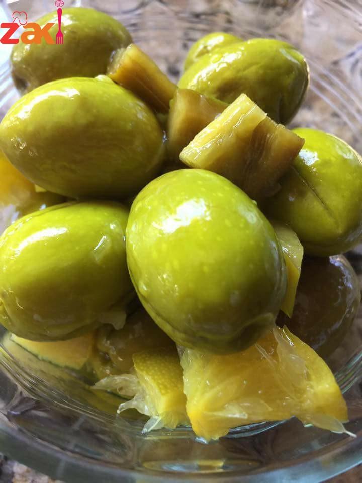 زيتوناتي بعد شهر صاروا جاهزين والطعم زااااااااكي جدا لأنجح وصفة لتخزين الزيتون الأخضر