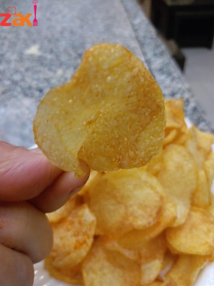 البطاطا الشيبس المقشرمه والصحيه