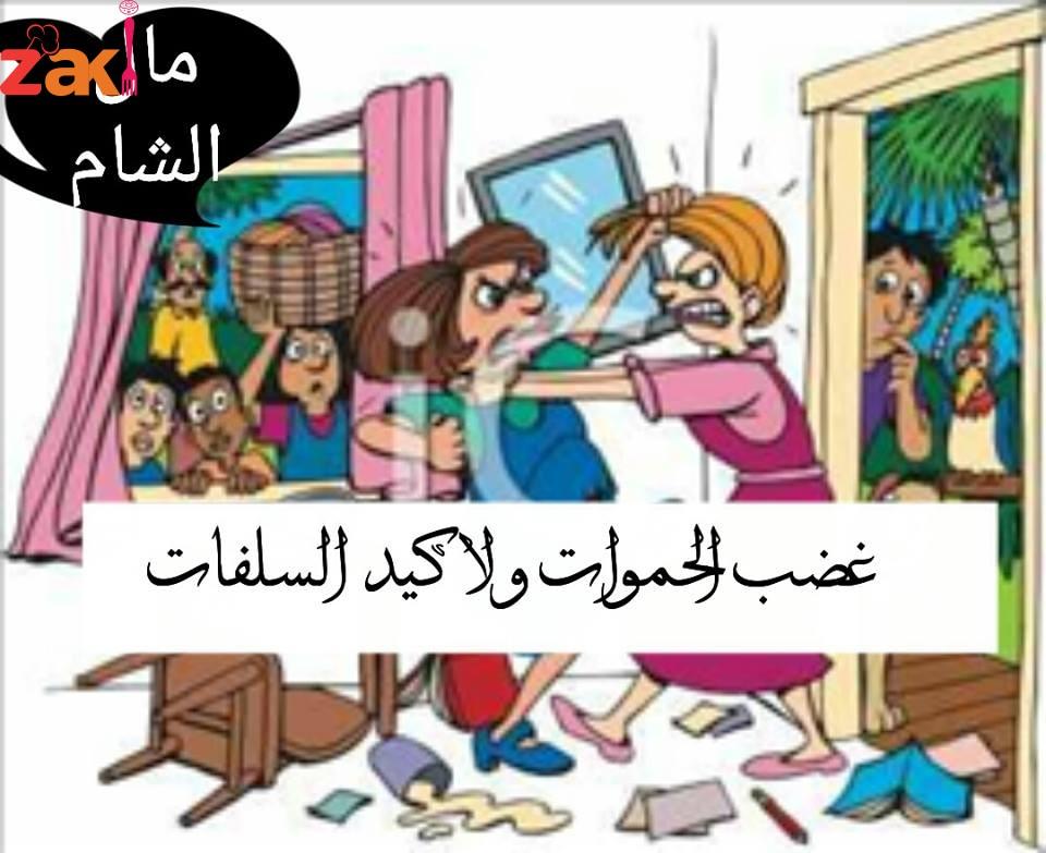 قصة الليلة بعنوان غضب الحموات ولا كيد السلفات بقلم مال الشام