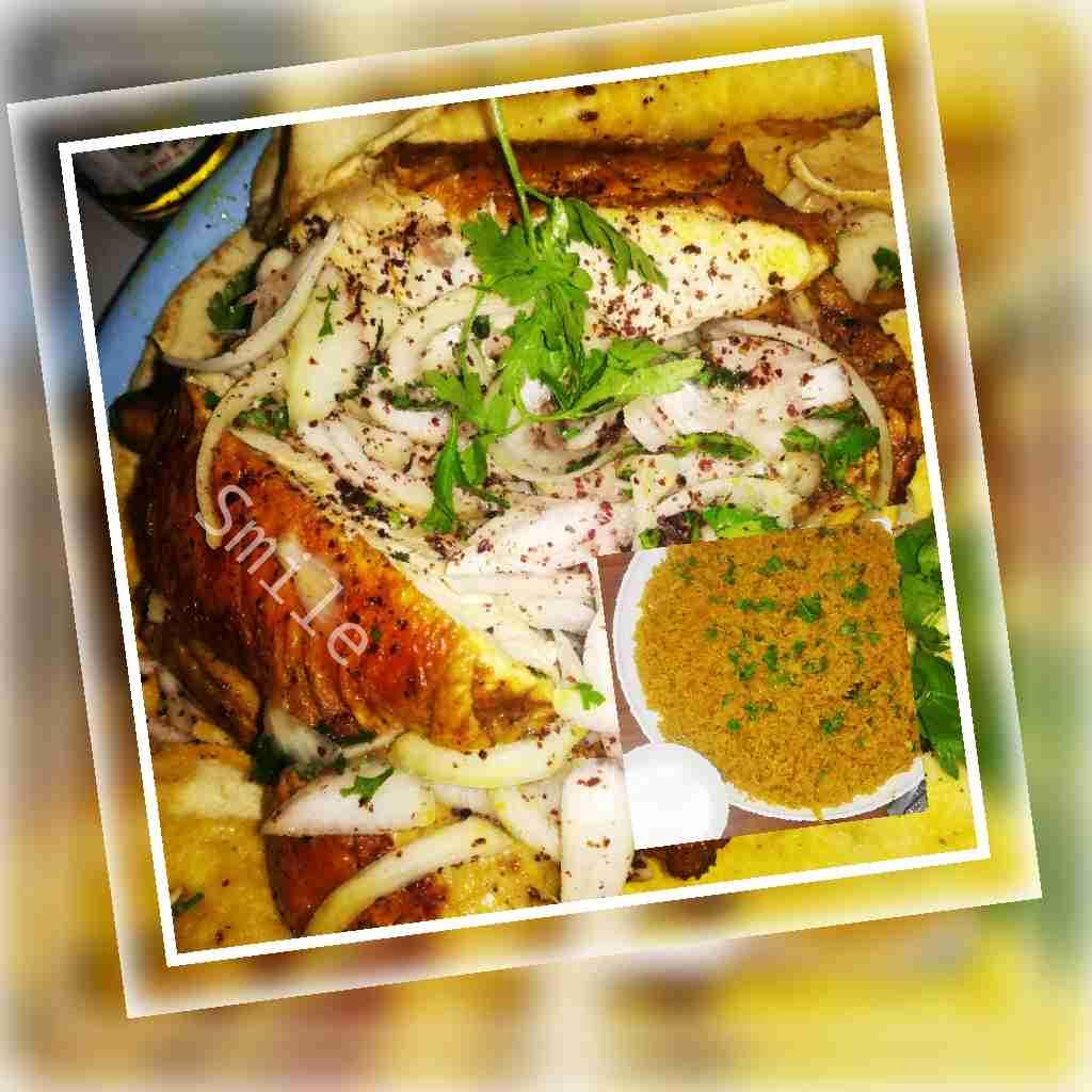 دجاج مشوي مع الارز المبهر