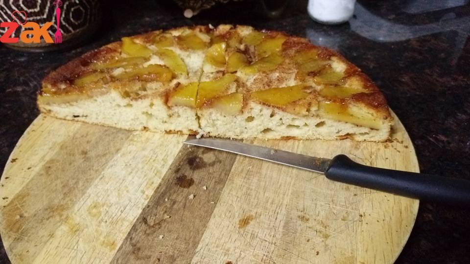طريقة عمل كيكة التفاح بالقرفة
