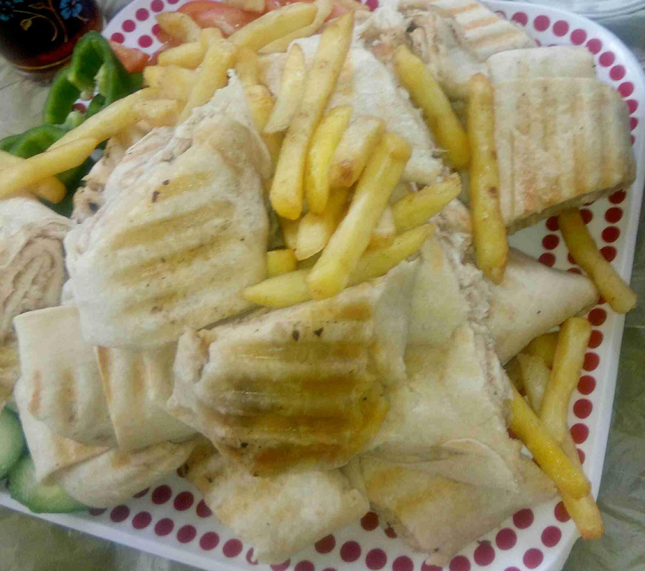 شاورما الدجاج. 😍😍