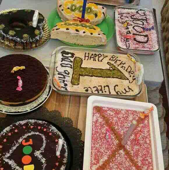 حلويات لعيد ميلاد بنتي كله شغل ايدي ❤❤