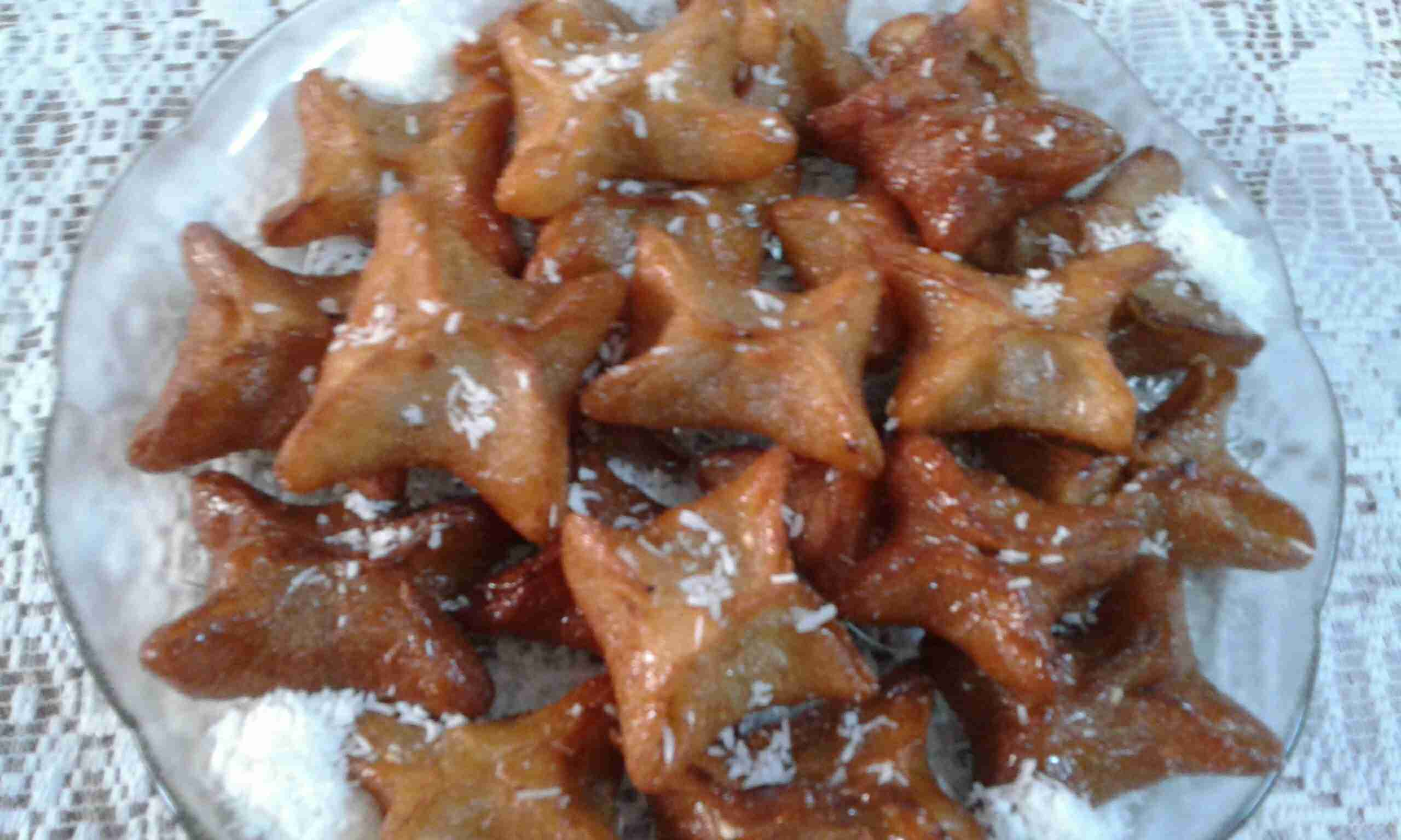 حلى النجمه بالسميد والجوز والقرفه مسابقة الأطباق الجانبية في رمضان