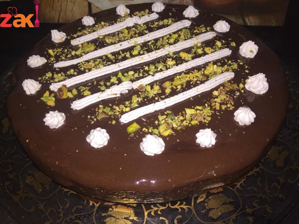 طريقة الكيكة الشكولاتة الرطبة