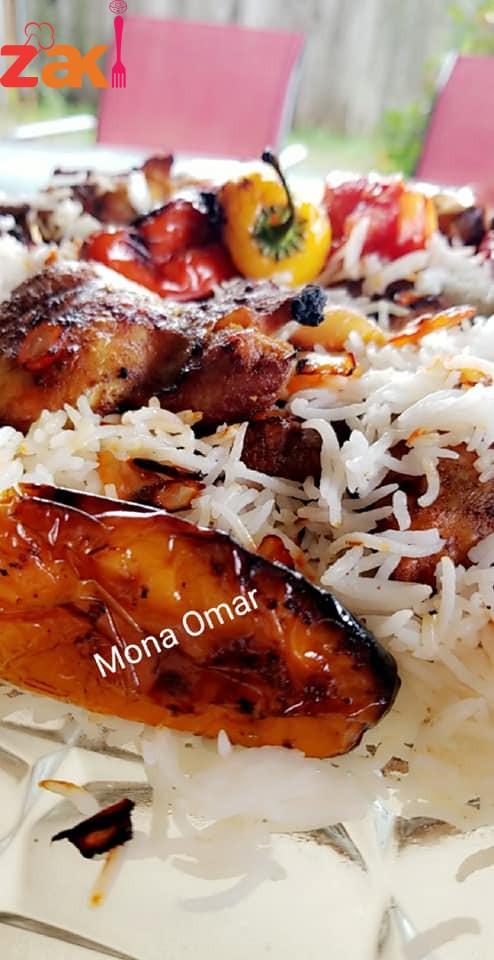 طريقة أرز مدخن بالدجاج مع نكهة الزعفران