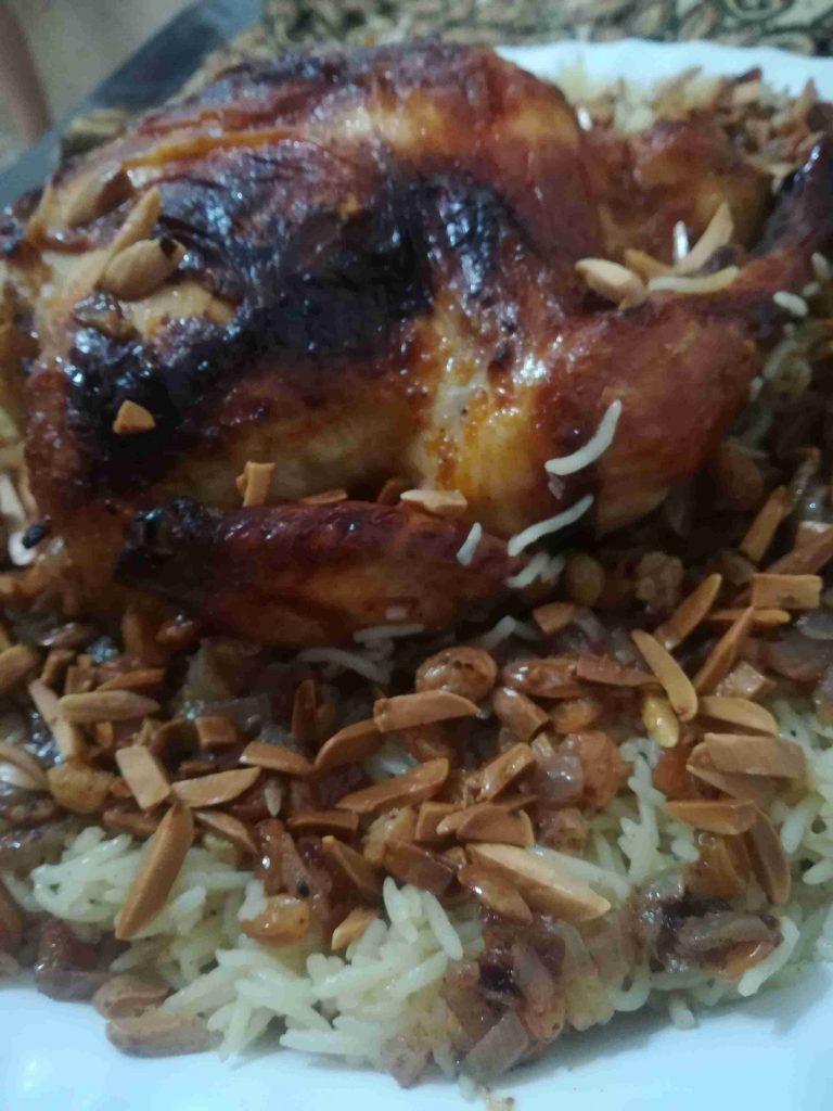 رز بخلطة الزبيب والبصل ملكة اطباق الأرز
