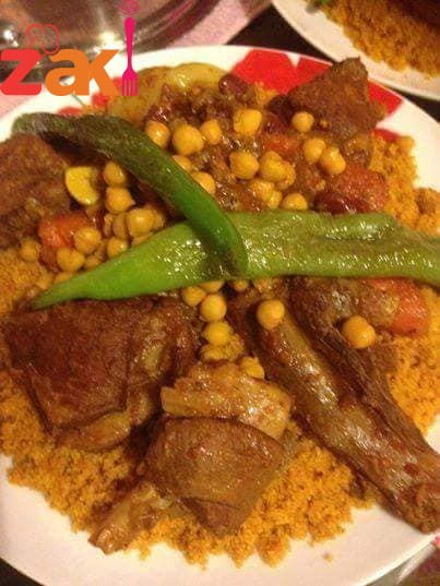 طريقة أكلة CUSCOUS تونسية بلحم الخروف