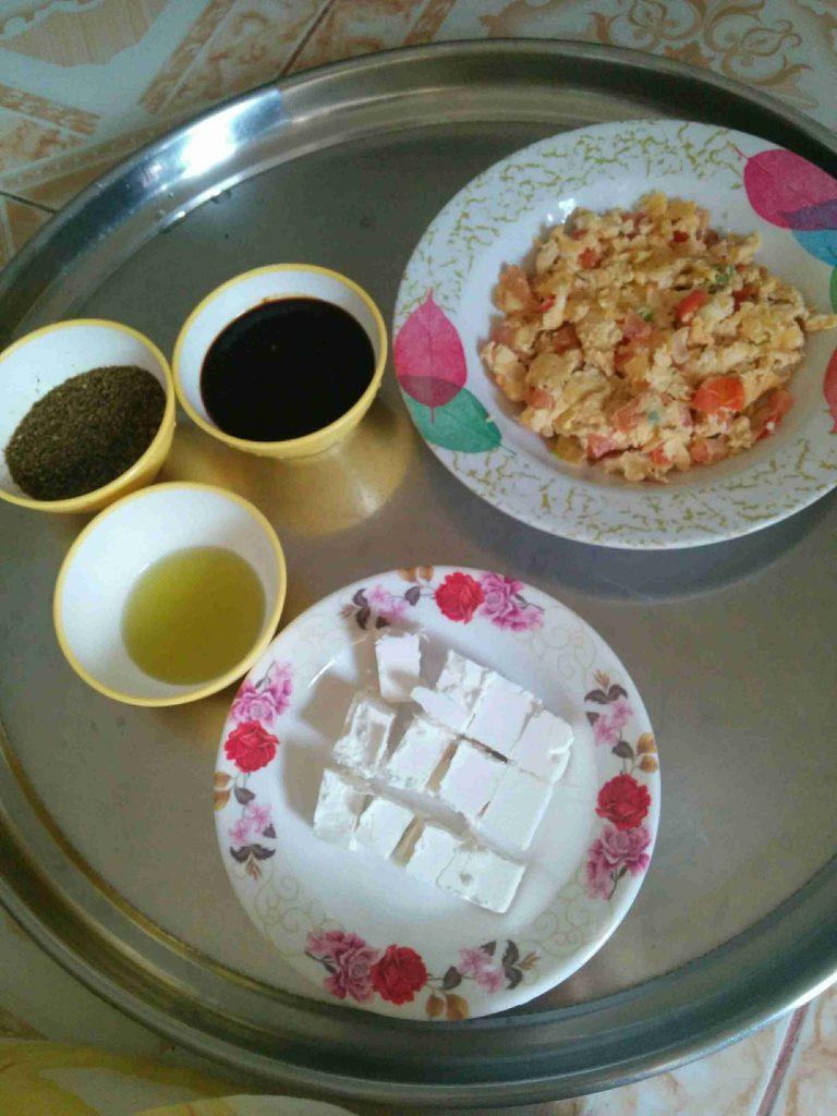 البيض المكشن اليمني