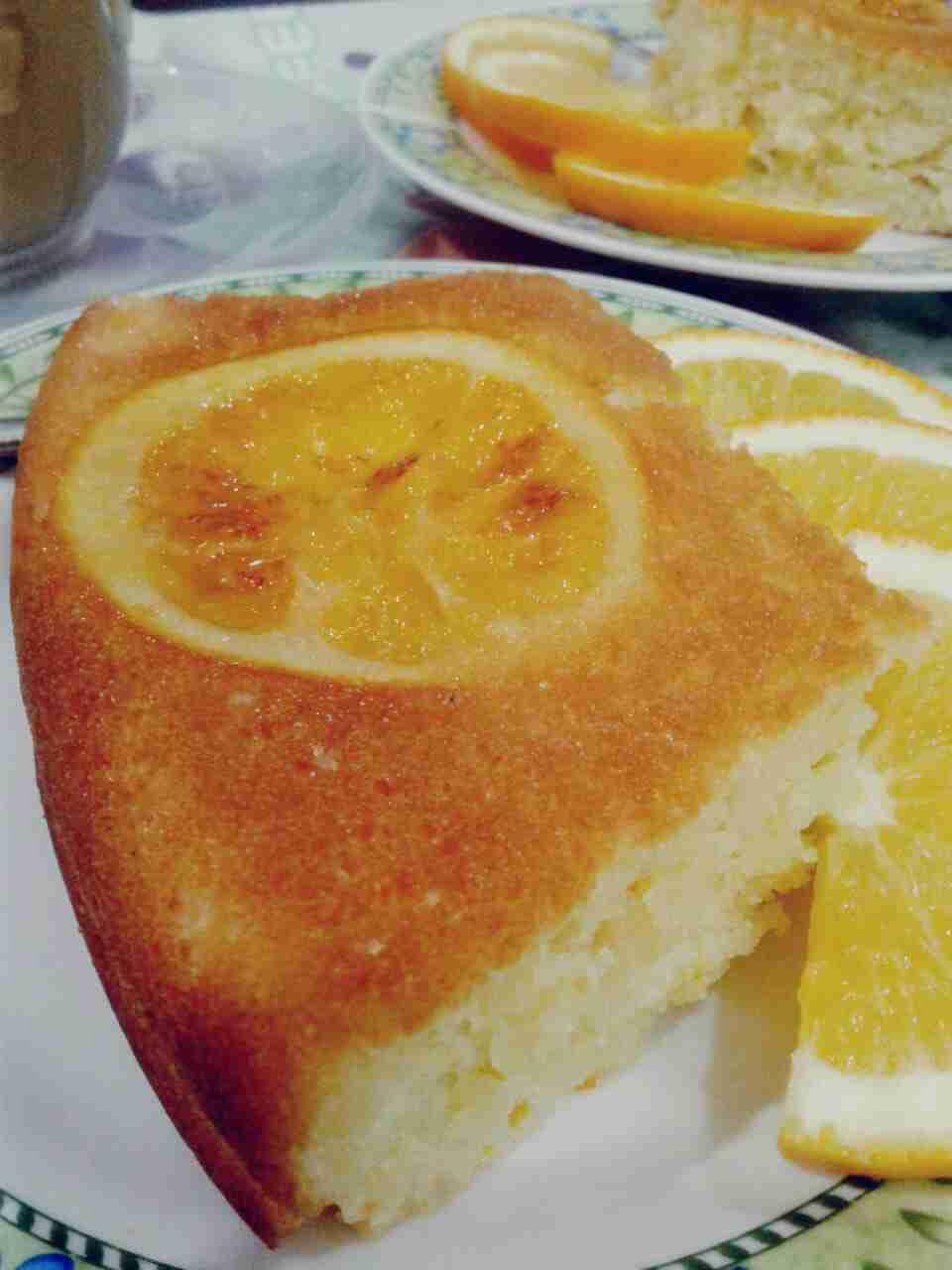 """كيكة البرتقال المقلوبة🍊 طعم ورائحة ولا أجمل """"اللهم بارك"""""""