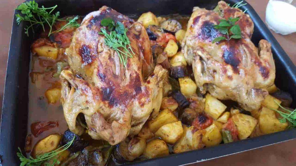 سلسلة وصفات سهلة واقتصادية دجاج مع الخضار بالفرن🍗🥗