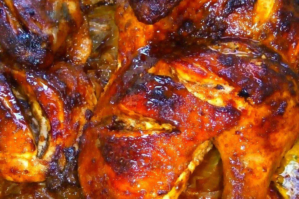 دجاج تندوري مع ارز بالهيل والقرفة