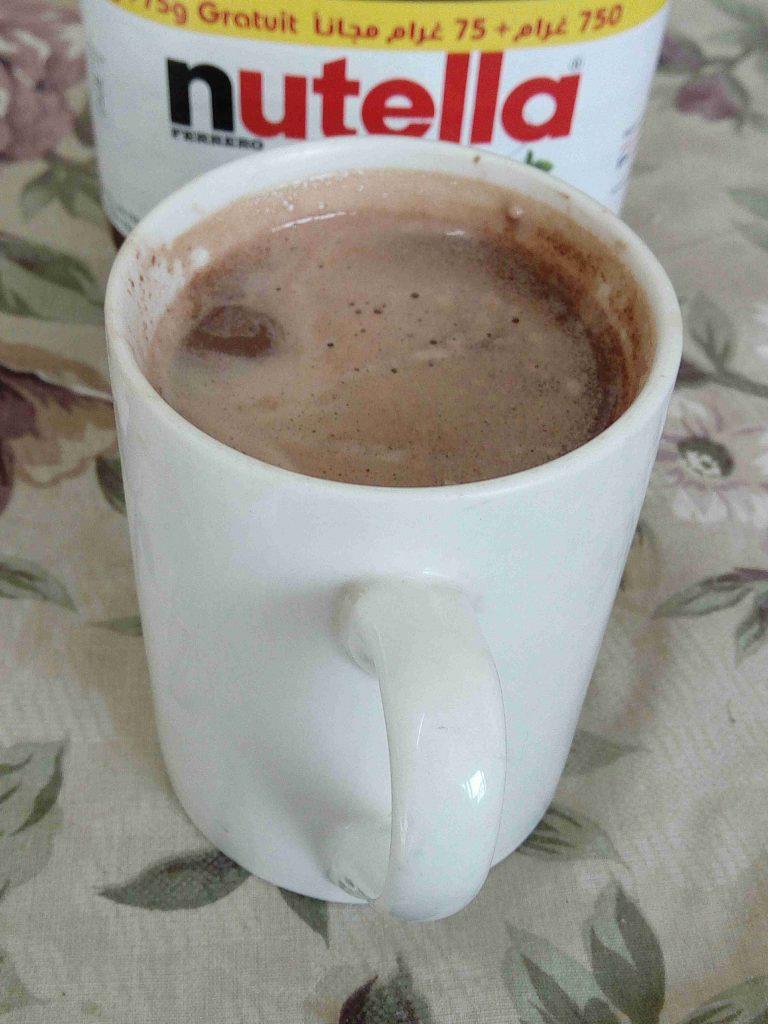 قهوة النوتيلا