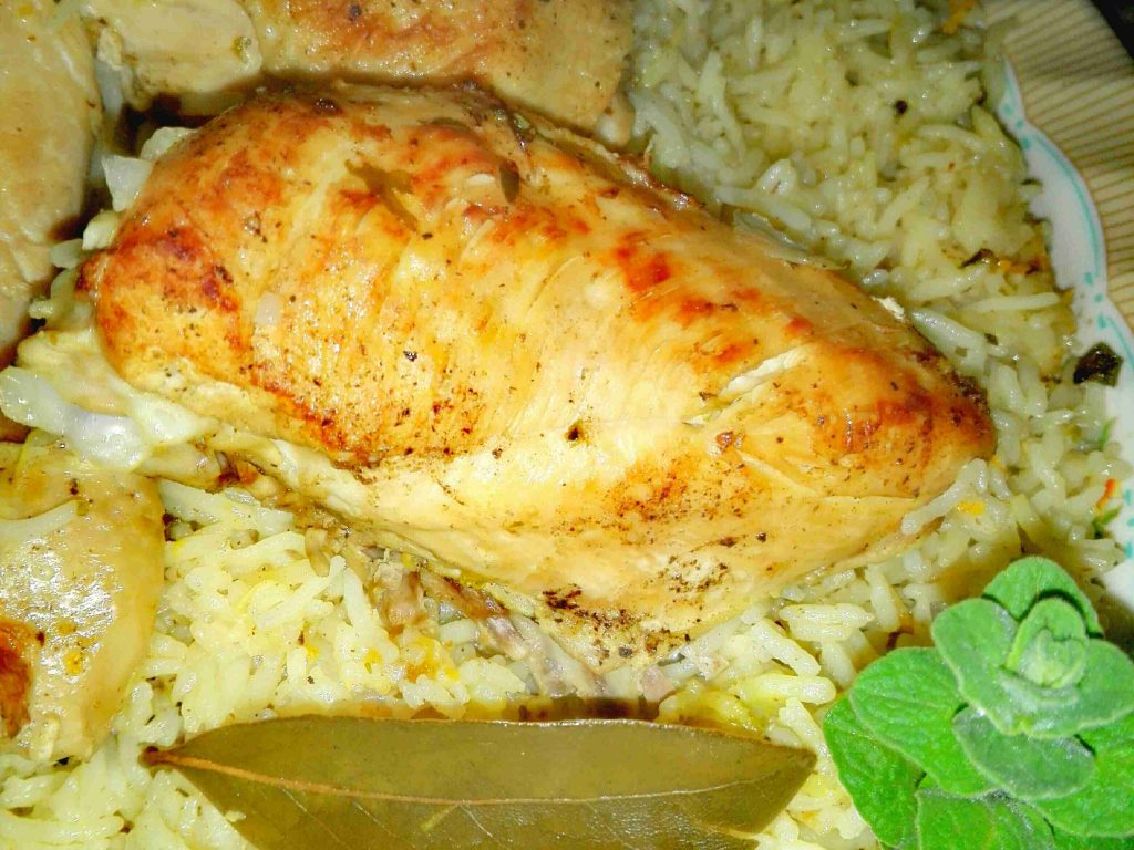 أرز بالحمضيات والدجاج