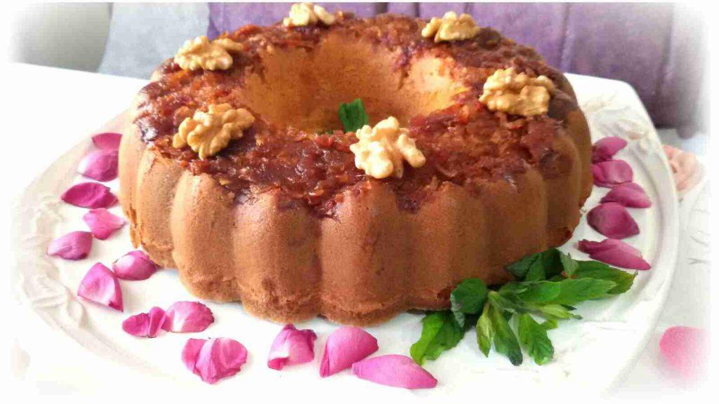 كيك ببرش التفاح المكرمل والقرفة بنكهة لا تنسى ♡ملكة رمضان♡