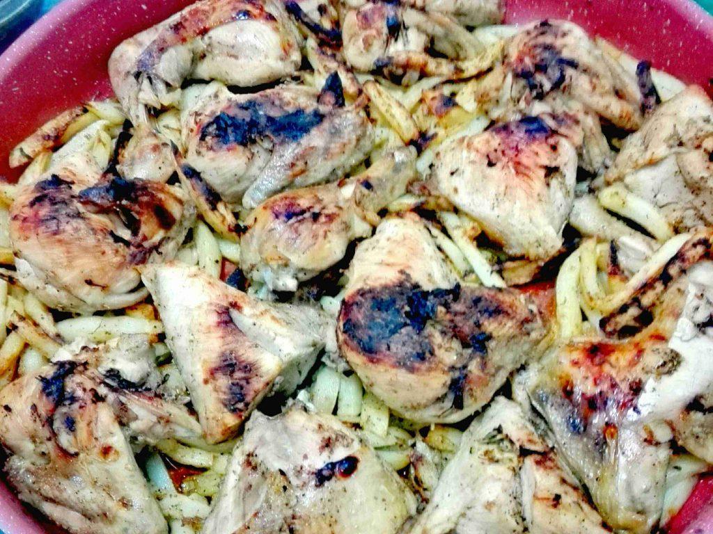 صينية الدجاج مع البطاطا بنكهة الثوم ودبس الرمان ..ملكة رمضان