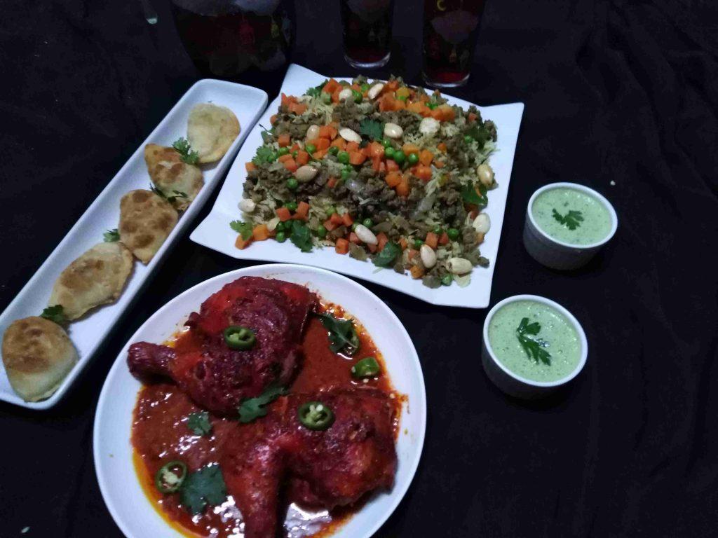 اوزي مع دجاج تندوري و لبن بالاعشاب ملكة رمضان