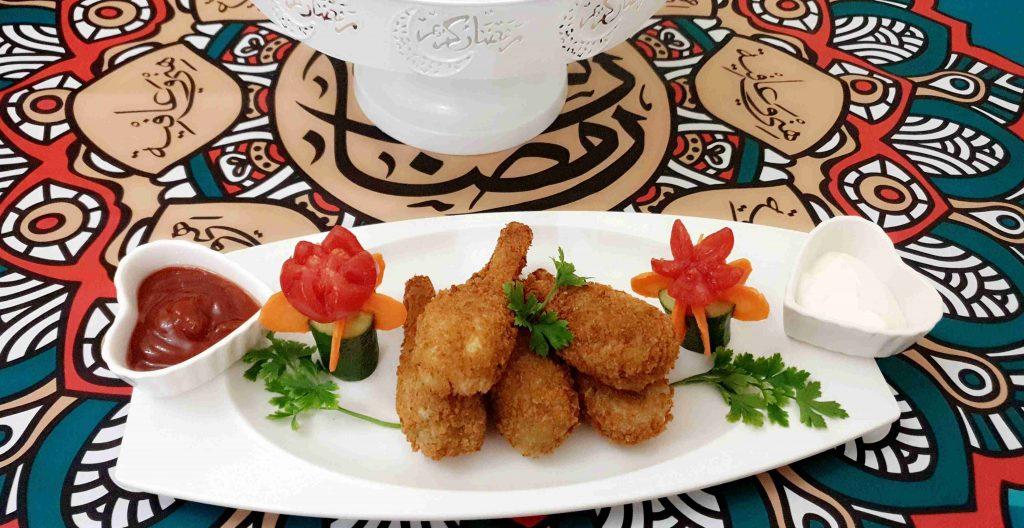 افخاذ الدجاج الكذابه المقرمشه والشهيه ملكة رمضان