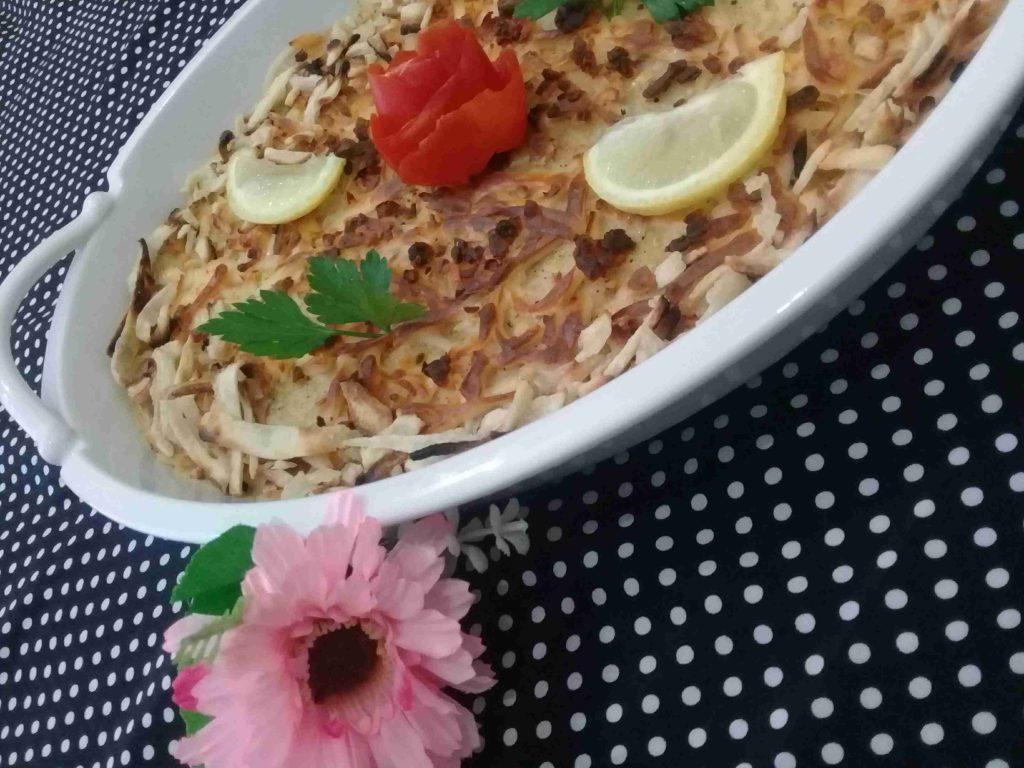 صينيه البطاطا المهروسه الرائعه على ذوقي ملكه رمضان