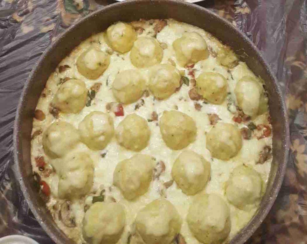 كرات البطاطا بالدجاج والكريمة ملكه اطباق رمضان